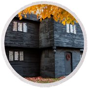 The Witch House Round Beach Towel