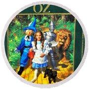 The Wizard Of Oz Round Beach Towel