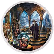 The Wizards Castle Round Beach Towel