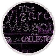 The Wizard's Wagon 2 Round Beach Towel