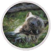 The Wolverine Skunk Bear Happy Face Round Beach Towel