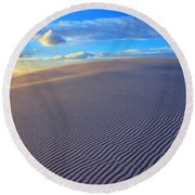 The Wonder Of New Mexico Round Beach Towel by Bob Christopher