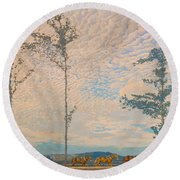 The Wooden Plough Round Beach Towel