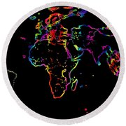 The World In The Past Round Beach Towel by Augusta Stylianou