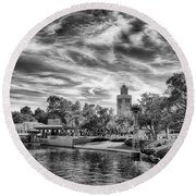 The World Pavilion Round Beach Towel by Howard Salmon