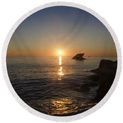 The Wreck Of The Atlantus - Cape May New Jersey Round Beach Towel