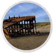 The Wreck Of The Peter Iredale - Oregon Round Beach Towel