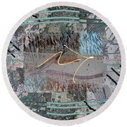 The Writing On The Wall 13 Round Beach Towel