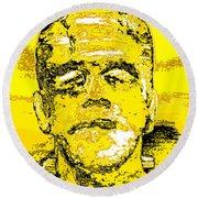 The Yellow Monster Round Beach Towel