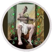 The Young Lover Round Beach Towel