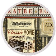Theatre Room Round Beach Towel
