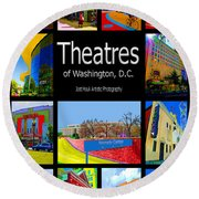 Theatres Of Washington Dc Round Beach Towel by Jost Houk