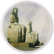 Thebes Round Beach Towel