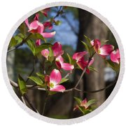 Them Cheery Little Dogwoods Round Beach Towel