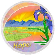 Themes Of The Heart-hope Round Beach Towel