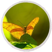 Then A Butterfly Round Beach Towel