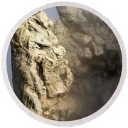 Theodore Roosevelt At Yellowstone Round Beach Towel