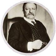 Theodore Roosevelt(1858-1919) Round Beach Towel