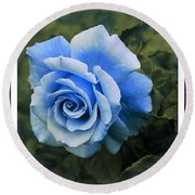 There Were Roses Triptych 2 Round Beach Towel