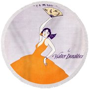 There's A Wah Wah Gal In Agua Caliente Round Beach Towel