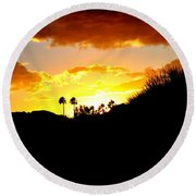 There's Gold In Them Thar Hills Round Beach Towel