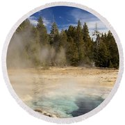 Thermal Landscape Round Beach Towel