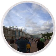 They Come To Catherine Palace - St. Petersburg - Russia Round Beach Towel