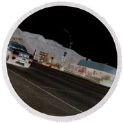 They Drive By Night Round Beach Towel