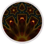 They Rise From The Deep Round Beach Towel