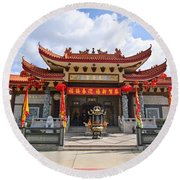 Thien Hau Temple A Taoist Temple In Chinatown Of Los Angeles. Round Beach Towel