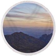 Thimble Peak At Sunset Round Beach Towel