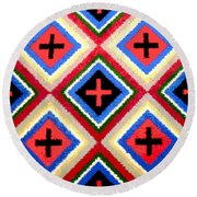 Think Positive Round Beach Towel