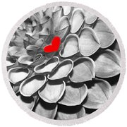 This Heart Is For You Round Beach Towel