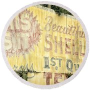 This Is It Round Beach Towel