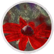 This Is Not Just Another Flower - Spr01 Round Beach Towel