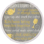 This Kitchen Is Seasoned With Love Round Beach Towel