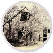 This Old Barn Round Beach Towel by Cricket Hackmann