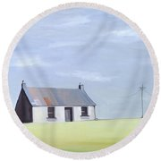 This Old House Round Beach Towel