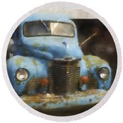 This Old Truck 13 Round Beach Towel