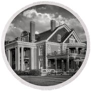 Thistle Hill Bw Round Beach Towel