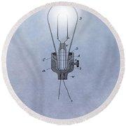 Thomas Edison Electric Lamp Patent Round Beach Towel