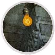 Thomas Edison Lightbulb Round Beach Towel