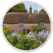 Thomas Hardy's Cottage Round Beach Towel by Joana Kruse