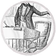 Thomas Hart Benton (1782-1858) Round Beach Towel