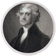Thomas Jefferson Round Beach Towel by Gilbert Stuart