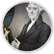 Thomas Jefferson Round Beach Towel by Nathaniel Currier