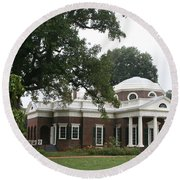 Thomas Jeffersons Monticello Round Beach Towel