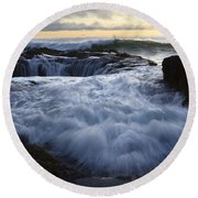 Thors Well 2 Round Beach Towel by Bob Christopher
