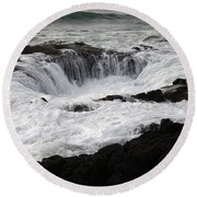 Thors Well Oregon Round Beach Towel by Bob Christopher