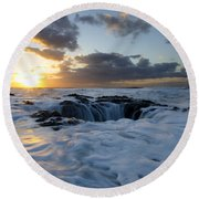 Thors Well Oregon Truly A Place Of Magic 3 Round Beach Towel